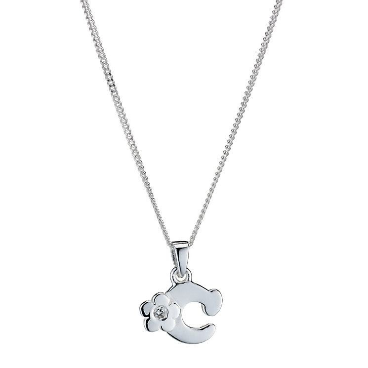 Children's Sterling Silver Initial C Pendant - Product number 9128220