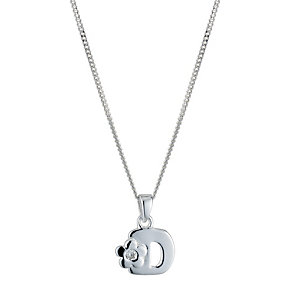 Children's Sterling Silver Initial D Pendant - Product number 9128239