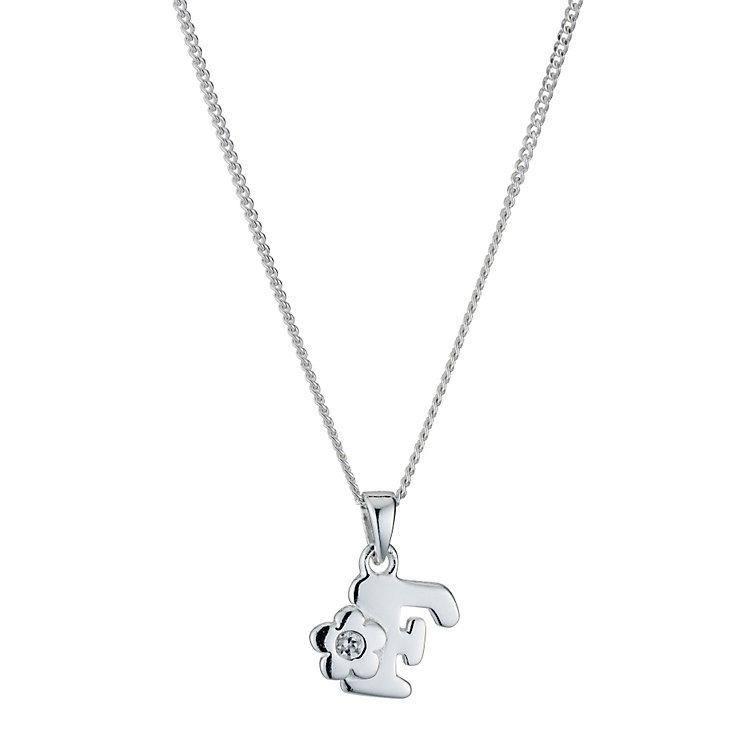 Children's Sterling Silver Initial F Pendant - Product number 9128255