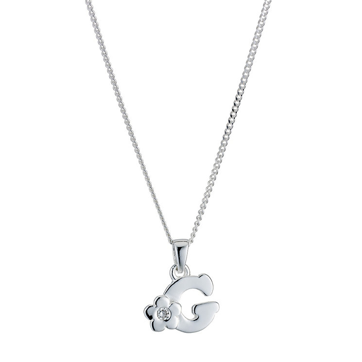 Children's Sterling Silver Initial G Pendant - Product number 9128263