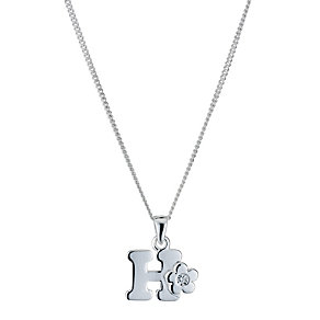 Children's Sterling Silver Initial H Pendant - Product number 9128271