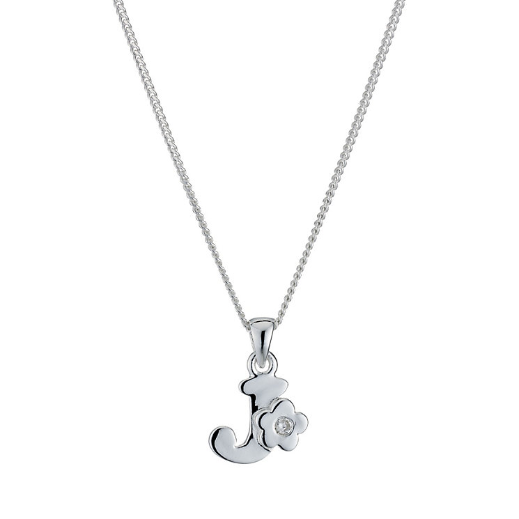 Children's Sterling Silver Initial J Pendant - Product number 9128301