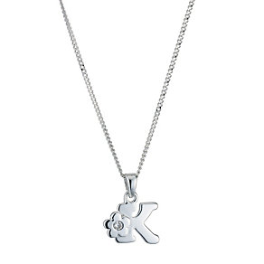 Children's Sterling Silver Initial K Pendant - Product number 9128328