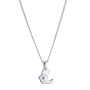 Children's Sterling Silver Initial L Pendant - Product number 9128344