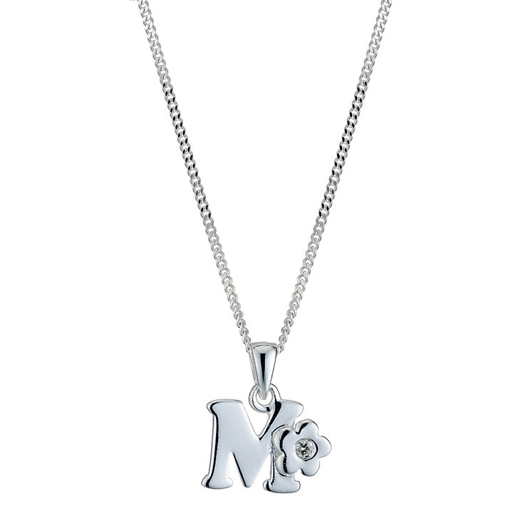 Children's Sterling Silver Initial M Pendant - Product number 9128352