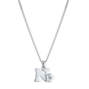 Children's Sterling Silver Initial N Pendant - Product number 9128360