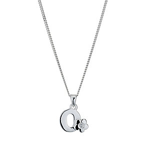 Children's Sterling Silver Initial O Pendant - Product number 9128379