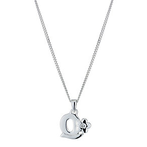 Children's Sterling Silver Initial Q Pendant - Product number 9128395