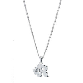 Children's Sterling Silver Initial R Pendant - Product number 9128409