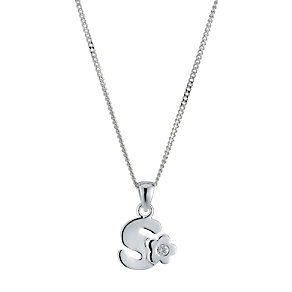 Children's Sterling Silver Initial S Pendant - Product number 9128417