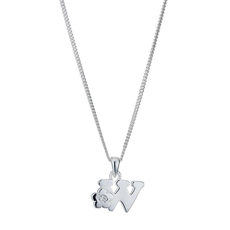 Children's Sterling Silver Initial W Pendant - Product number 9128468