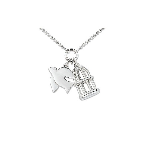 Cacharel sterling silver bird cage necklace