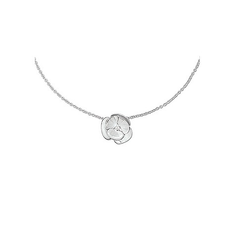 Cacharel sterling silver poppy necklace