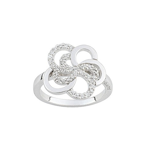 Cacharel sterling silver flower ring M