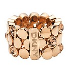 DKNY gold plated stone set expandable ring - size M1/2 - Product number 9149678