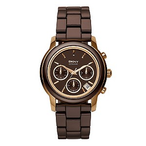 DKNY brown ceramic bracelet chronograph watch - Product number 9150285