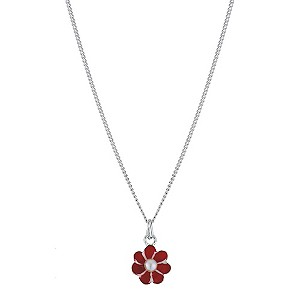 Children's Sterling Silver Enamel Flower Pendant - Product number 9172092