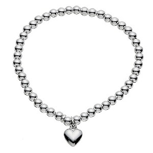 Silver Heart Charm Ball Bracelet - Product number 9172165