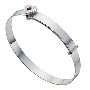 Silver Children's January Birthstone Bangle - Product number 9172173