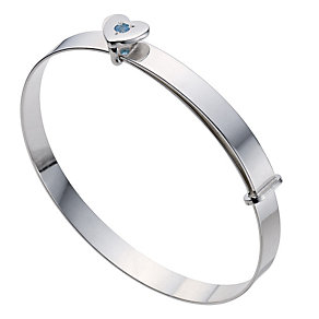 Silver Children's March Birthstone Bangle - Product number 9172203