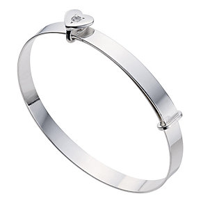 Silver Children's April Birthstone Bangle - Product number 9172211