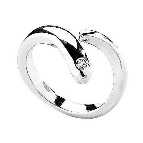 Hot Diamonds silver overlap twist ring Size M