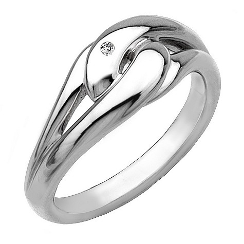 Hot Diamonds silver infinity ring Size N