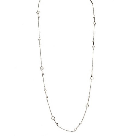 Simon Carter platinum plated key necklace