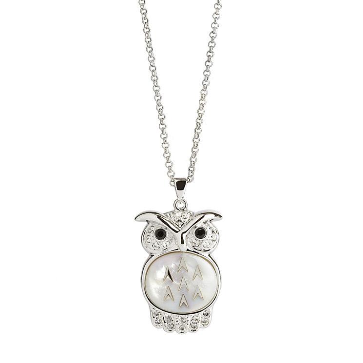 Simon Carter platinum large owl pendant - Product number 9179917