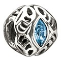 Chamilia - sterling silver March Swarovski birthstone bead - Product number 9181806