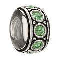 Chamilia sterling silver August birthstone wheel bead - Product number 9181822