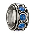 Chamilia sterling silver September birthstone wheel bead - Product number 9181830