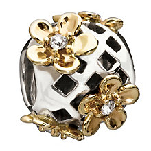 Chamilia - sterling silver & 14ct gold Flower Lattice bead - Product number 9181911