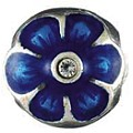 Chamilia silver and blue enamel flower bead - Product number 9182020