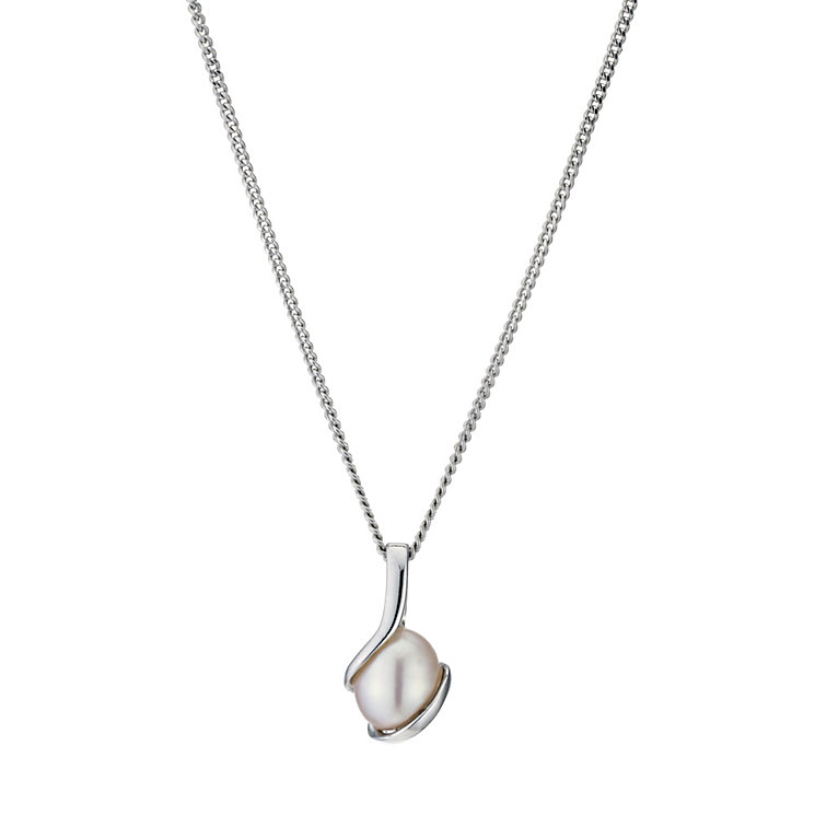 Sterling Silver Pink Cultured Freshwater Pearl Wrap Pendant - Product number 9182985