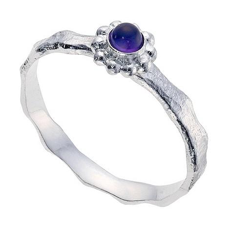 Amethyst and sterling silver Blossom ring