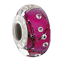 Chamilia - sterling silver City Lights Fuchsia Steel bead - Product number 9186530