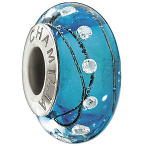 Chamilia - sterling silver City Lights Blue Steel bead - Product number 9186751
