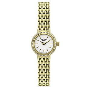 Rotary ladies' gold plated stone set bracelet watch - Product number 9187529