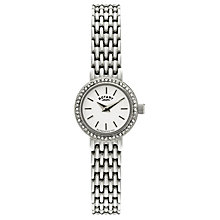Rotary ladies' stainless steel stone set bracelet watch - Product number 9187545
