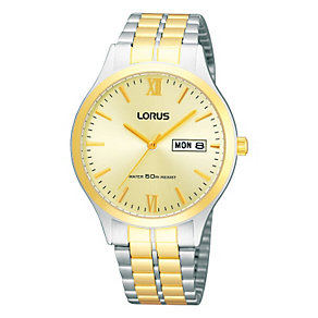 Lorus Men's Two Tone Stainless Steel Bracelet Watch - Product number 9188029
