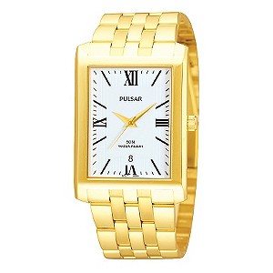 Pulsar Men's Gold-Plated Bracelet Watch - Product number 9188614