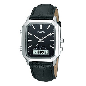 Pulsar Men's Duo Date Display Black Strap Watch - Product number 9189122