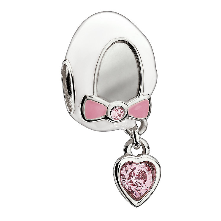Chamilia - Silver Baby Shoe Pink Crystal Charm - Product number 9189548
