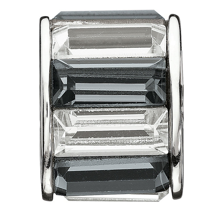 Chamilia - Silver Black & White Crystal Baguette Bead - Product number 9189637