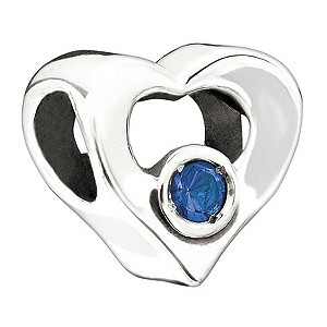 Chamilia - Silver Blue Stone Heart Bead - Product number 9190007