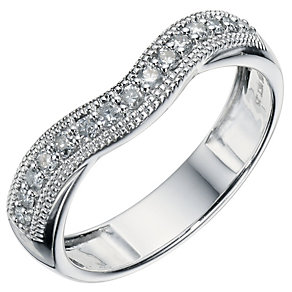 9ct White Gold 1/4 Carat Diamond Shaped Band - Product number 9193367