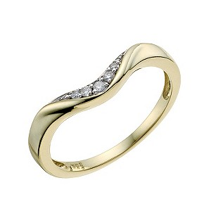 9ct Yellow Gold Shaped Diamond Wedding Ring - Product number 9193766