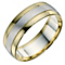 Men's 9ct Yellow & White Gold Matt & Polished Band - Product number 9193898