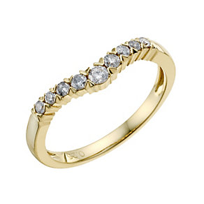 18ct Yellow Gold 1/4 Carat Diamond Set Band - Product number 9199020